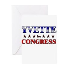 YVETTE for congress Greeting Card