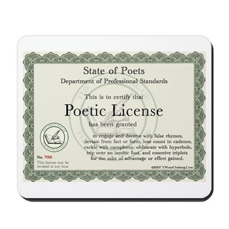 Poetic License Mousepad
