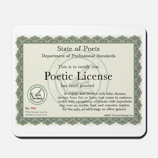 Poetic License Mousepad