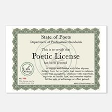 Poetic License Postcards (Package of 8)