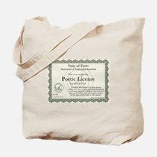 Poetic License Tote Bag