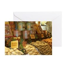 French Sweet Shop Greeting Card
