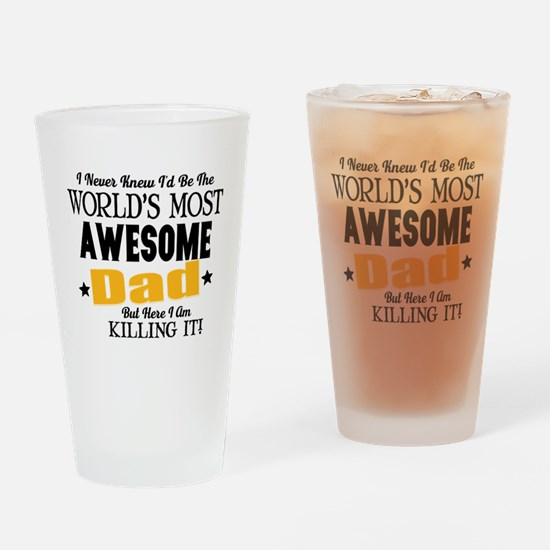 Awesome Dad Drinking Glass