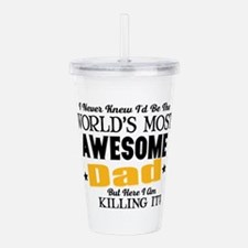 Awesome Dad Acrylic Double-wall Tumbler