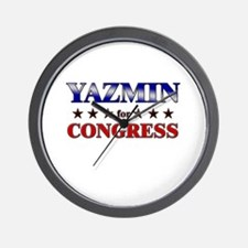YAZMIN for congress Wall Clock