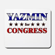 YAZMIN for congress Mousepad