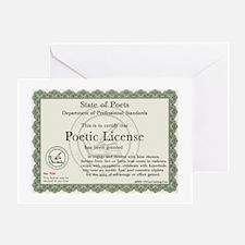 Poetic License Greeting Card