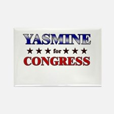 YASMINE for congress Rectangle Magnet