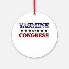 YASMINE for congress Ornament (Round)