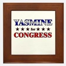 YASMINE for congress Framed Tile