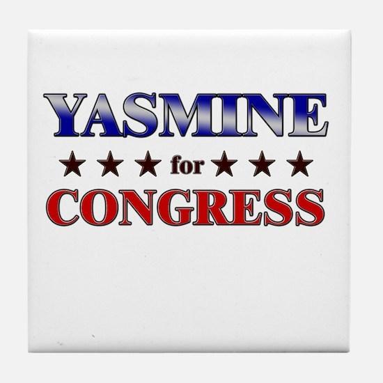 YASMINE for congress Tile Coaster