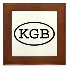 KGB Oval Framed Tile