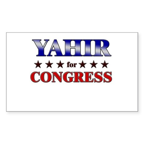 YAHIR for congress Rectangle Sticker