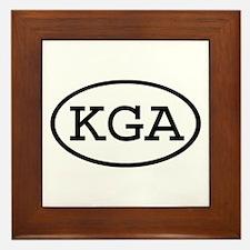 KGA Oval Framed Tile