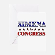 XIMENA for congress Greeting Card