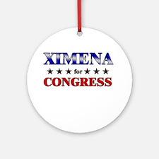 XIMENA for congress Ornament (Round)
