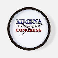 XIMENA for congress Wall Clock