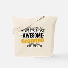 Awesome Grandpa Tote Bag