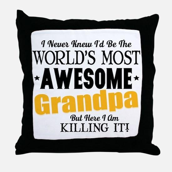 Awesome Grandpa Throw Pillow