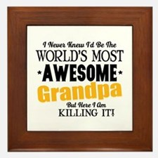 Awesome Grandpa Framed Tile
