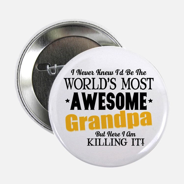 """Awesome Grandpa 2.25"""" Button (100 pack)"""