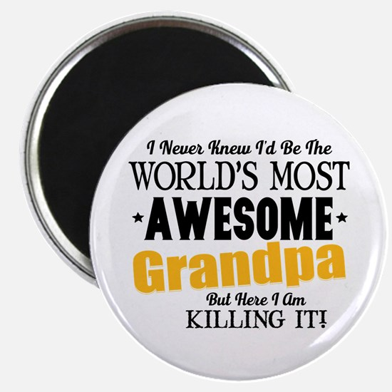 """Awesome Grandpa 2.25"""" Magnet (10 pack)"""