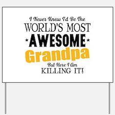Awesome Grandpa Yard Sign