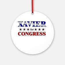 XAVIER for congress Ornament (Round)
