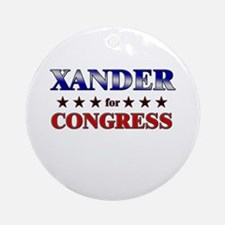 XANDER for congress Ornament (Round)