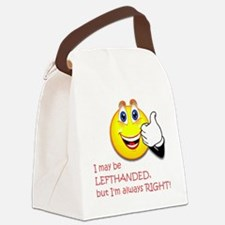 Left-handed Canvas Lunch Bag