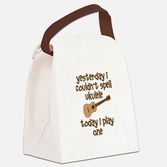 Funny Ukulele Canvas Lunch Bag