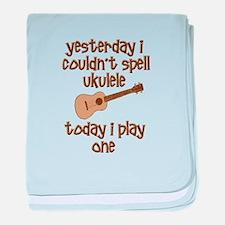 Funny Ukulele baby blanket