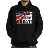 Anti donald trump Hoodie (dark)