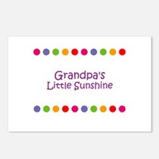Grandpa's Little Sunshine Postcards (Package of 8)