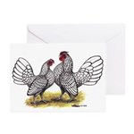 Silver Sebright Bantams Greeting Cards (Pk of 20)