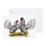 Silver Sebright Bantams Greeting Card