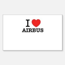 I Love AIRBUS Decal