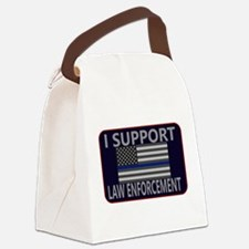 I Support Law Enforcement Canvas Lunch Bag