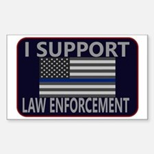 I Support Law Enforcement Sticker (Rectangle)