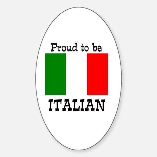 Cute Italy Sticker (Oval)