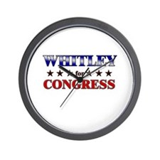 WHITLEY for congress Wall Clock