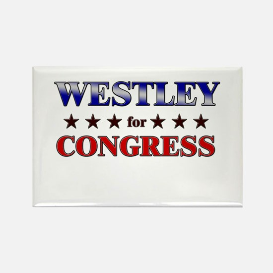 WESTLEY for congress Rectangle Magnet