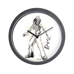 Fire Chief Skeleton Wall Clock