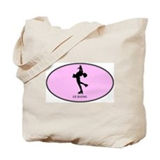 Womens Ice Skating (euro-pink Tote Bag