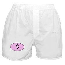 Womens Ice Skating (euro-pink Boxer Shorts