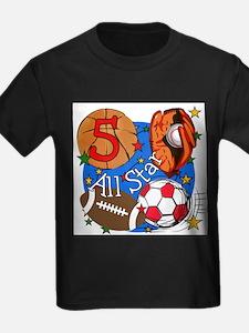 Sports 5th Birthday T-Shirt