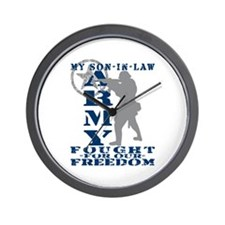 Son-in-Law Fought Freedom - ARMY Wall Clock