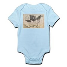 1861 Map Infant Bodysuit