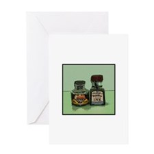 Kongo Ink BottlesGreeting Card