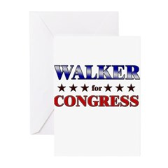 WALKER for congress Greeting Cards (Pk of 10)